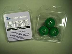 golf gag gift, dark green golf balls, impossible to find golf prank
