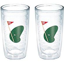 golf tumbler glasses, drinking gift for golfers, golfer drinkware