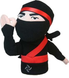 ninja golf headcover, unique ninja golf head cover