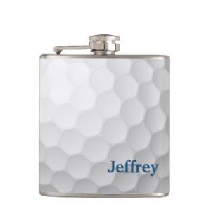 personalized golf flask, golfers flask, custom golf flask
