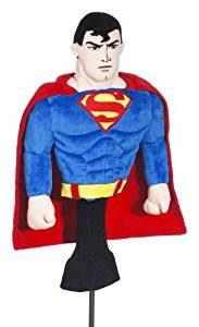 superman golf headcover for driver, superman golf club head cover