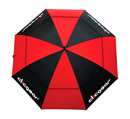 clicgear oversized double canopy golf umbrella
