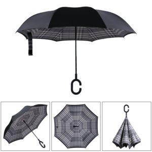 double layer reverse folding golf umbrella