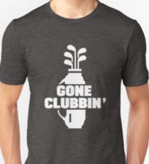 gone clubbin funny golf t shirt, humorous tee shirts for golfers