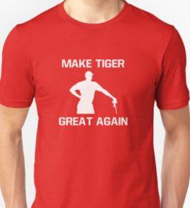 make tiger great again red t shirt, funny tiger woods shirt, funny golf shirt