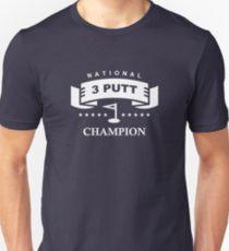 national 3 putt champion golf humor shirt, funny golf shirt for bad putters, golf joke shirt
