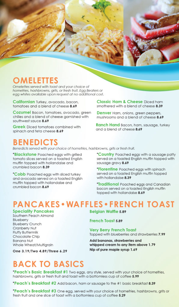 Breakfast Menu A