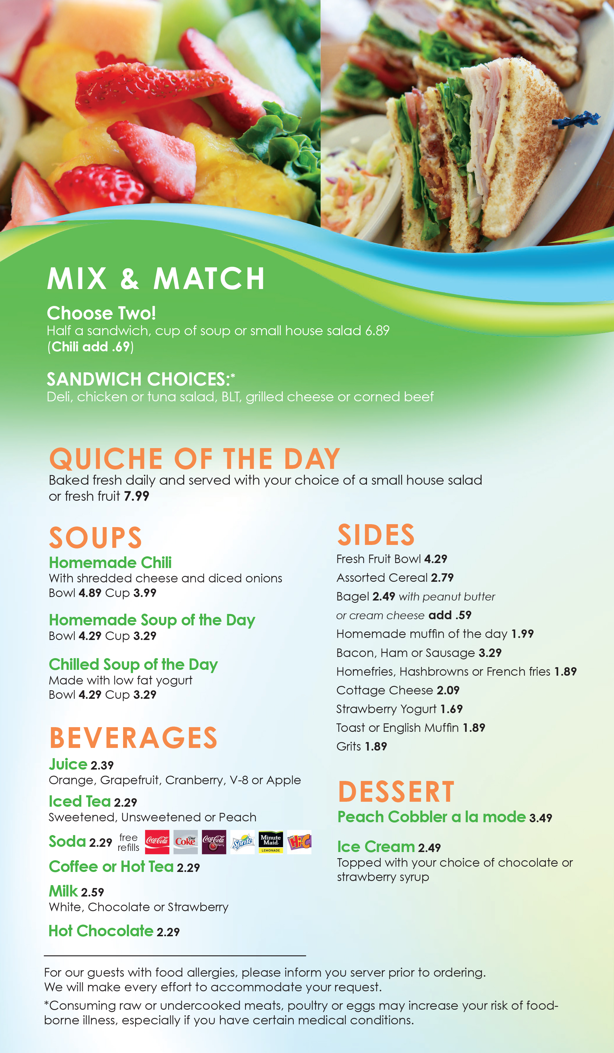 Mix and Match Menu