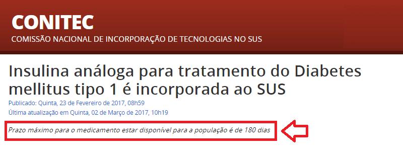 Insulinas Análogas pelo SUS - Conitec