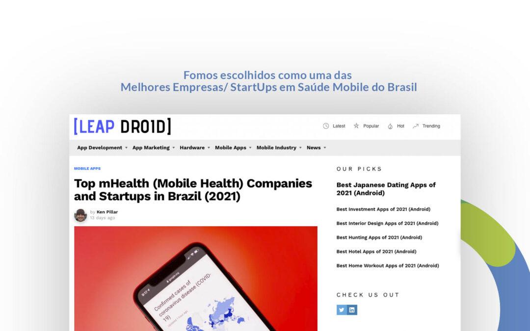 Fomos nomeados como uma das principais empresas de saúde móvel no Brasil pela Leap Droid