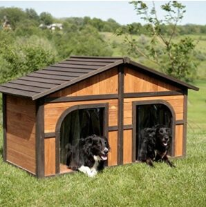 Merry Products Extra Large Solid Wood Dog House - dogspeaking.com
