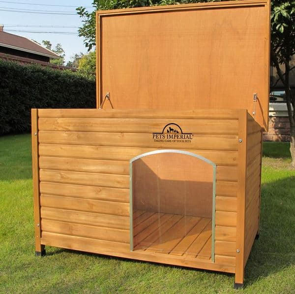 Large wooden dog house, best dg house - dogspeaking.com