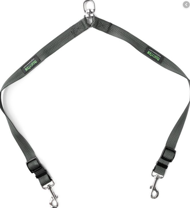 Mighty paws double dog leash