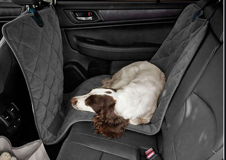 The half dog seat hammock - if you want the back seat shred - dogspeaking.com