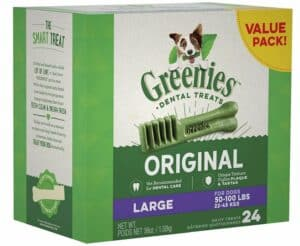 Dog dental health review - Greenies dental sticks