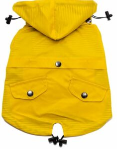 Ellie dog wear yellow zip up raincoat