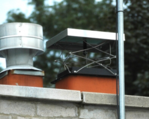 Energy-efficient Lock-Top chimney damper installation