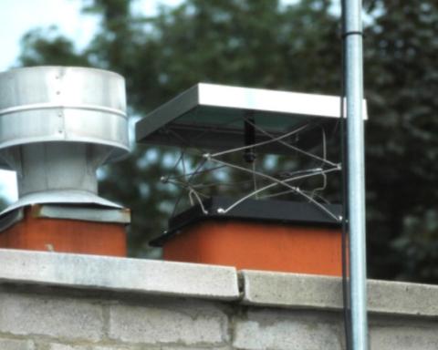Lock-Top energy efficient chimney damper installation