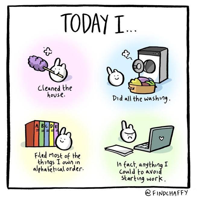 My Five: How I Procrastinate