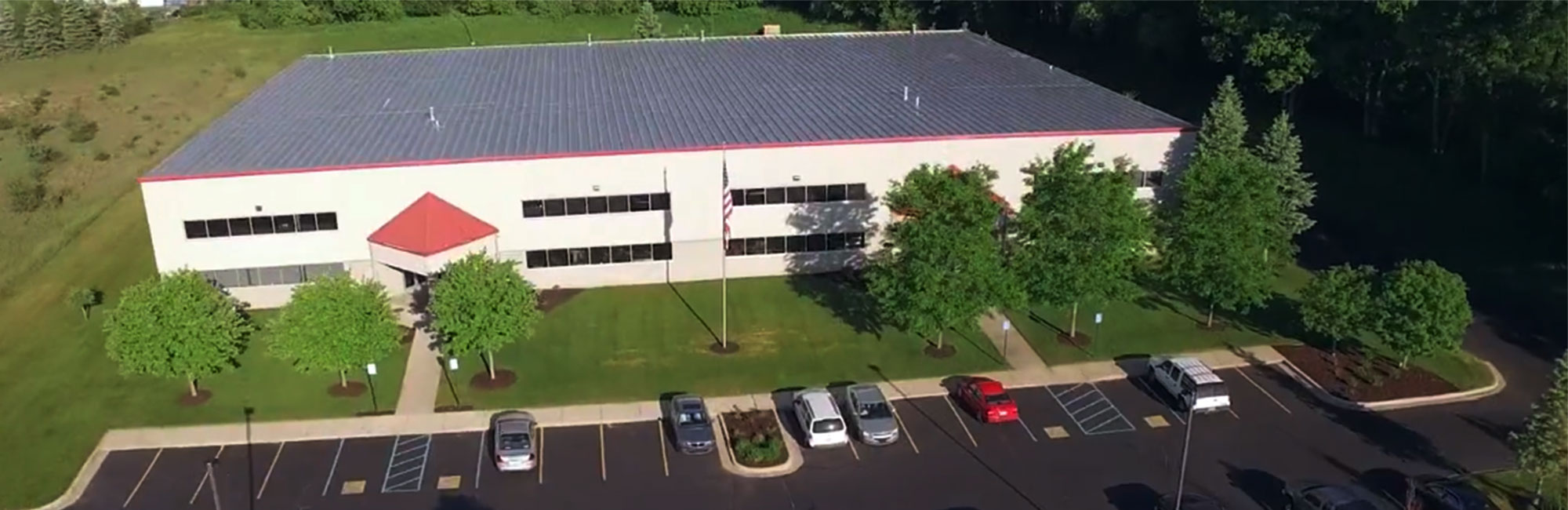 FabX Building aerial view