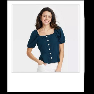 poplum blouse