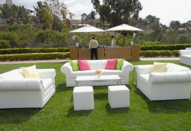 All white lounge sitting areas