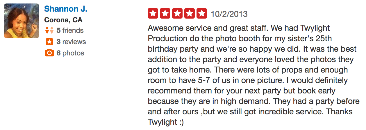 Shannon Photo booth review