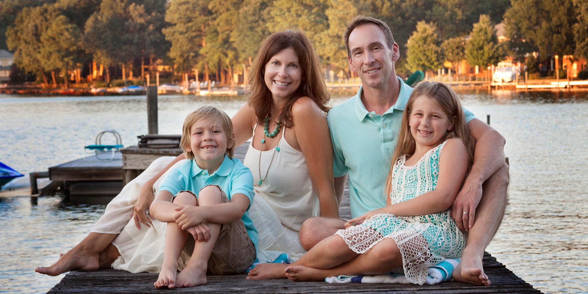 Deborah Young Photography - family on docks at Lake Norman
