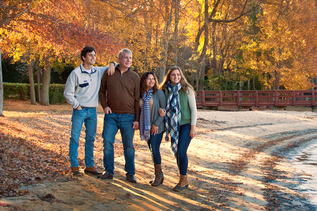 Deborah Young photo - family on shore of Lake Norman