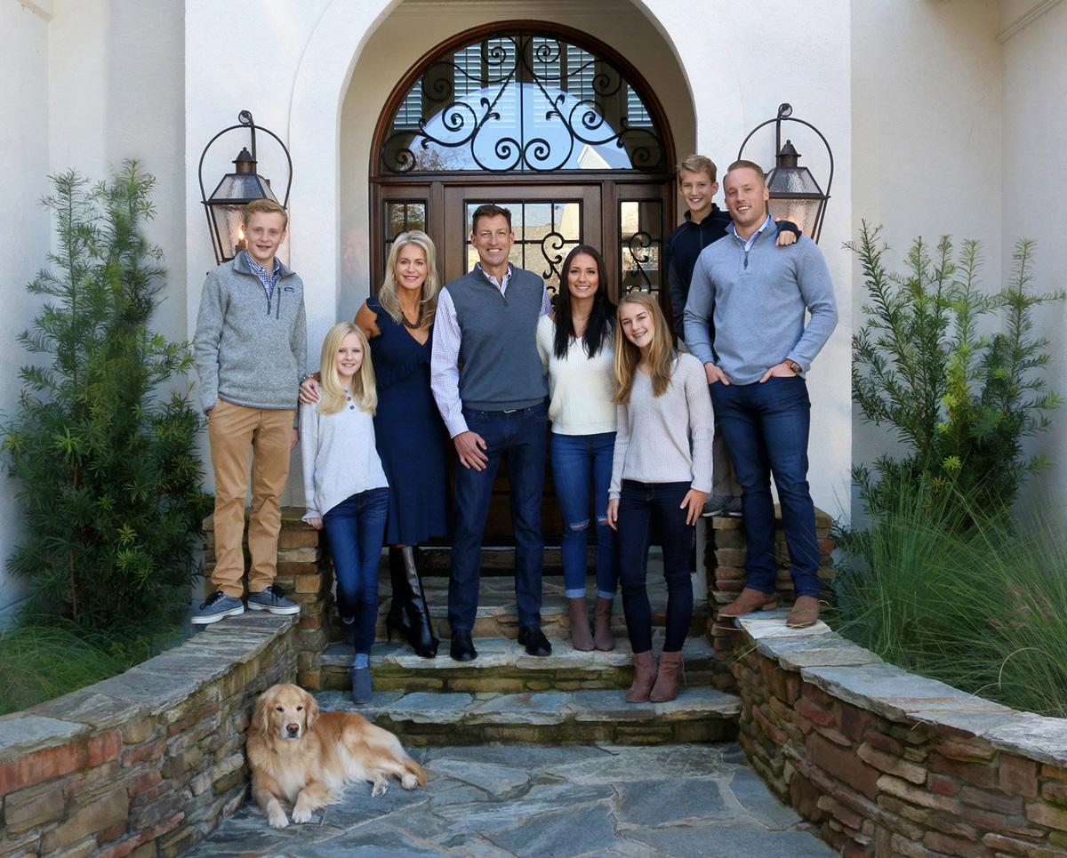 Deborah Young photo - family posing on doorstep with dog