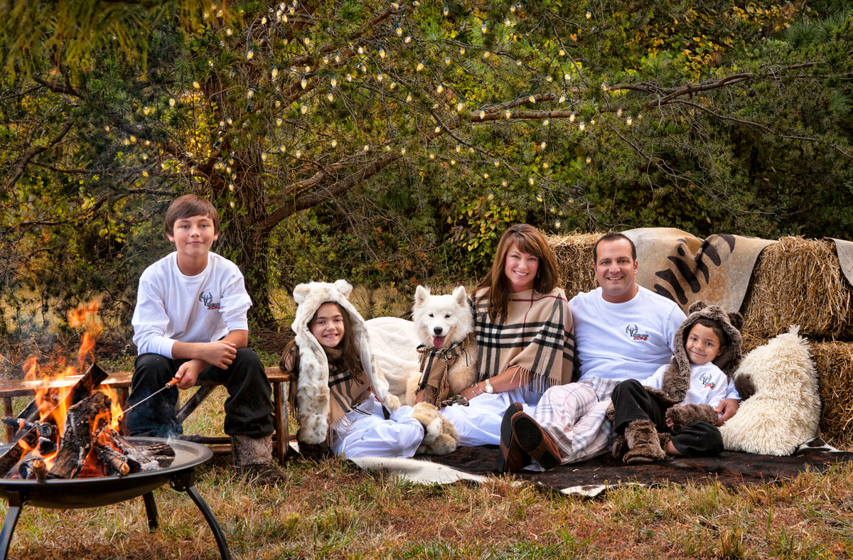 Deborah Young photo - family around campfire