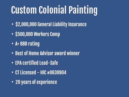 exterior house painters in Fairfield ct