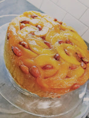 Calgary Palate, guide to the good life in Calgary 6 Quick Ways With 2019-01-02 Ginger Almond Peach Upside-Down Cake
