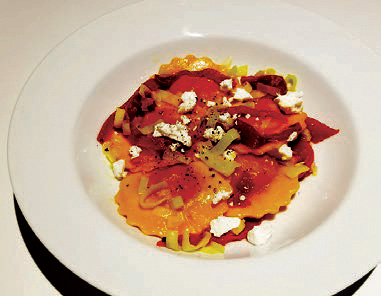 Calgary Palate, guide to the good life in Calgary 6 Quick Ways With 2019-01-02 Squash Ravioli in Ginger Butter with Leeks and Roasted Peppers