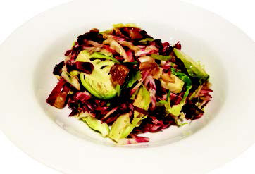 City Palate, guide to the good life in Calgary 6 Quick Ways With 2018 11 12 Shaved Brussels Sprouts and Radicchio Salad with Chestnuts