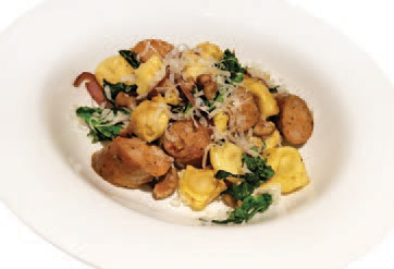 City Palate, guide to the good life in Calgary 6 Quick Ways With 2018 11 12 Tortellini with Sausage, Chestnuts and Rapini