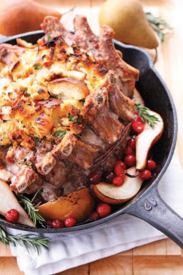 City Palate, guide to the good life in Calgary One Ingredient 2019 01 02 Crown Roast of Pork with Rosemary Stuffing and Roasted Apples