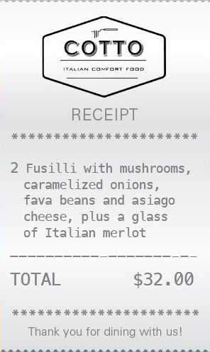 City Palate, guide to the good life in Calgary - feature 2018-01-02 Cotto Italian Comfort Food receipt