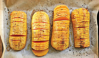 City Palate, guide to the good life in Calgary - one ingredient 2018-01-02 Hasselback Squash