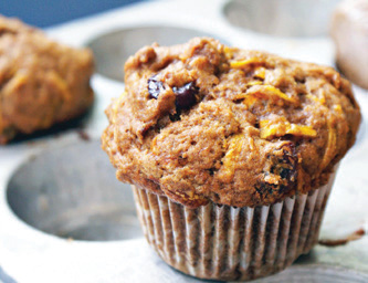 City Palate, guide to the good life in Calgary - one ingredient 2018-01-02 Winter Squash and Pear Morning Glory Muffins