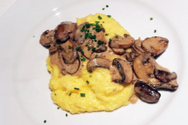 City Palate, guide to the good life in Calgary quick ways with 2018-05-06 Polenta with Brandy Cream Mushrooms