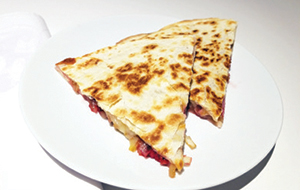 City Palate, guide to the good life in Calgary quick ways with 2018 -07-08 Raspberry, Caramelized Onion and Raclette Cheese Quesadilla