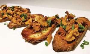 City Palate, guide to the good life in Calgary quick ways with 2018 -09-10 Chanterelle and Walnut Crostini with Fig Jam