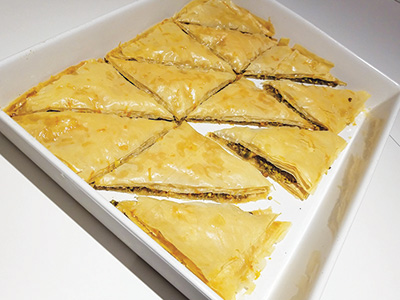 City Palate, guide to the good life in Calgary - quick ways with - 2019-05-06 - Pistachio baklava