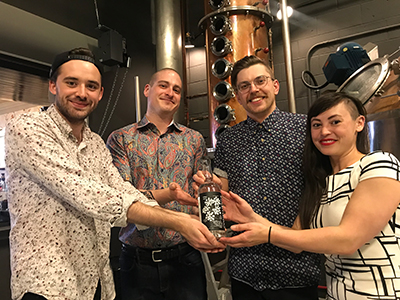 City Palate, guide to the good life in Calgary - drink this: 2019-04-16 Confluence Distillery staff