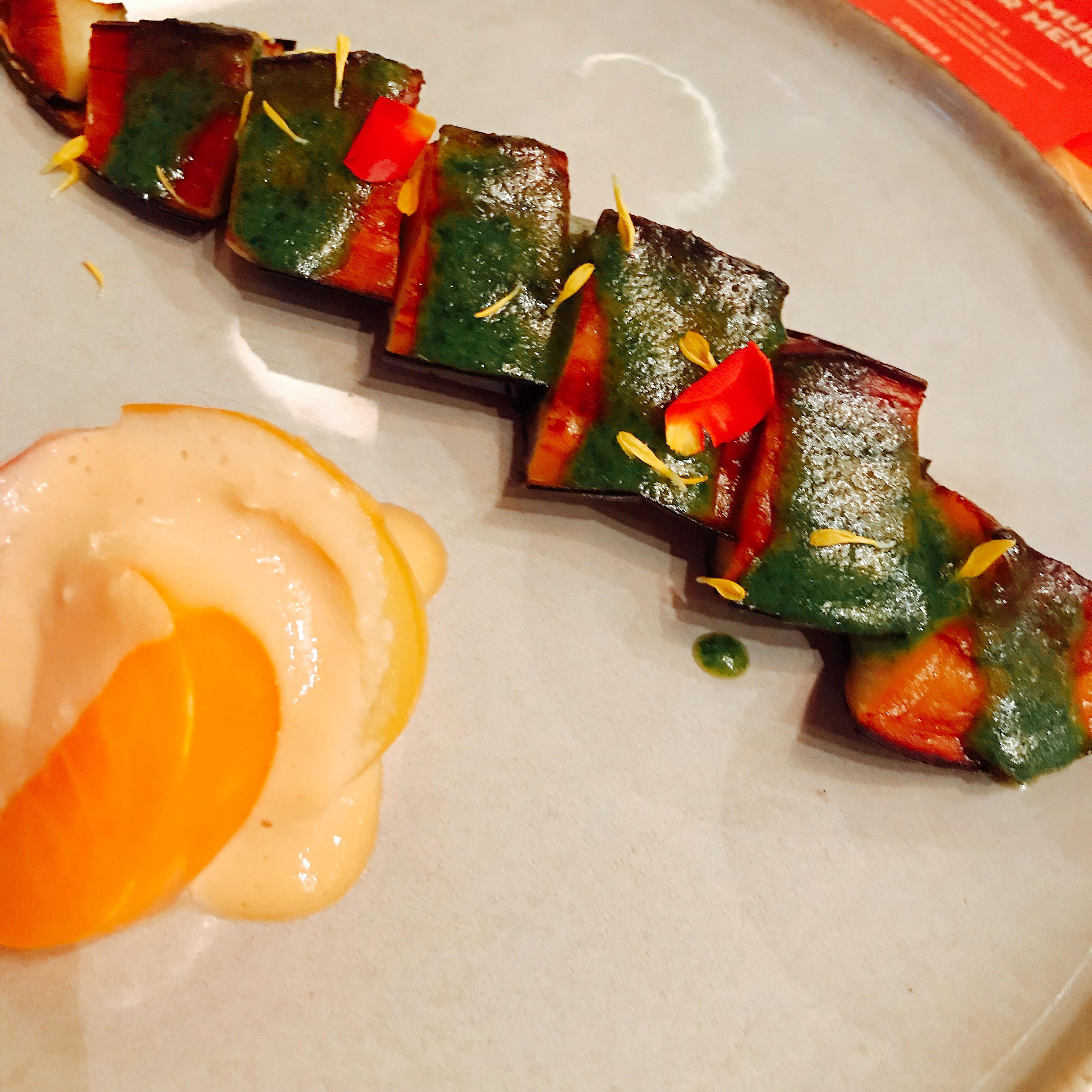 Sake eggplant kinome miso tomato shiraae