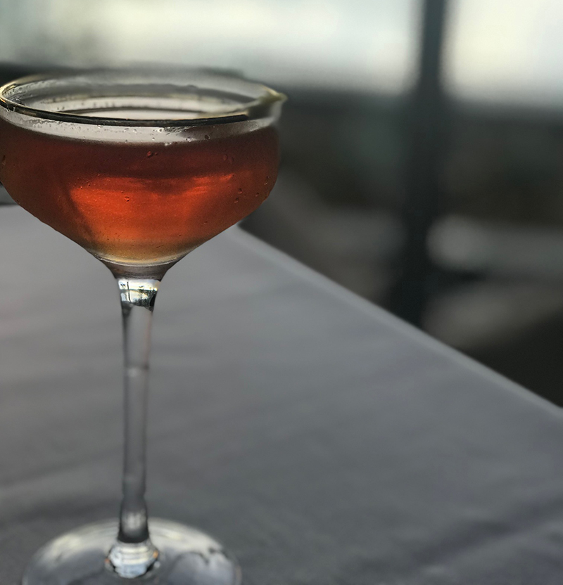 The Bobby Burns cocktail at Chairman's Steakhouse restaurant in Calgary