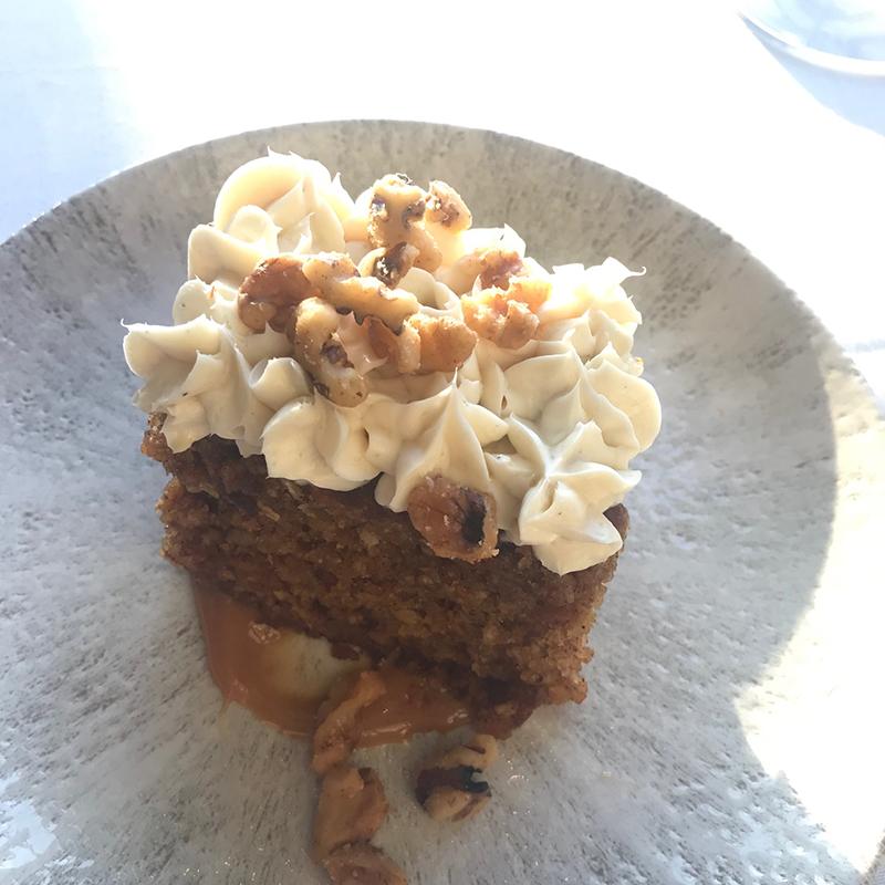 Carrot cake at Chairman's Steakhouse restaurant in Calgary
