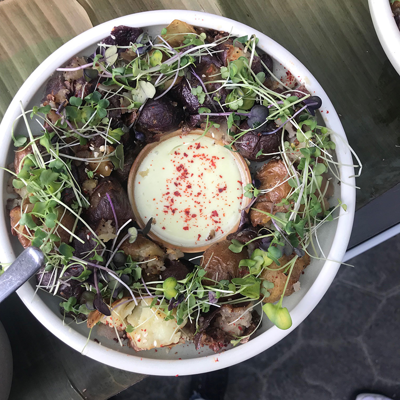 Mister Chen's Asian Brasserie Calgary potatoes and wasabi aioli