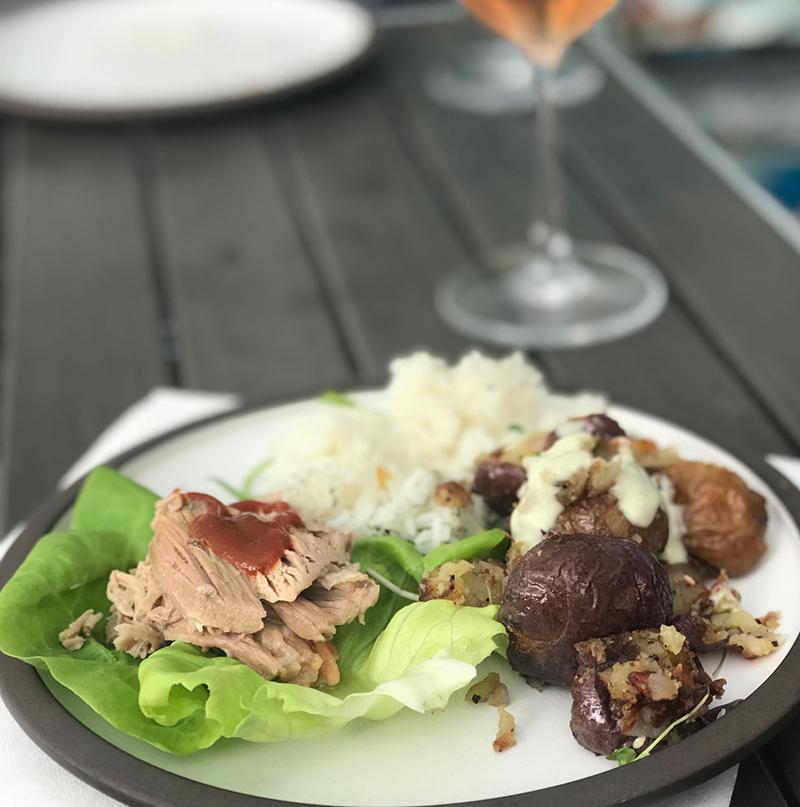Mister Chen's Asian Brasserie restaurant roast pork lettuce wrap Calgary